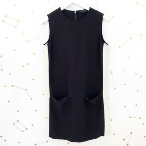 ATM • Black Color Block Sleeveless Shift Dress